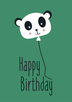 Happy Birthday Panda love ByStudio-Steef