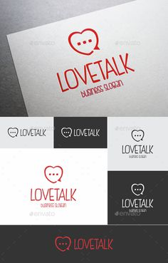 Love Talk Logo ¨C Simple and cute logo template  Included : AI, EPS_10, CDR. File is easy to editing.  Font used : Fish Fingers ¨C h