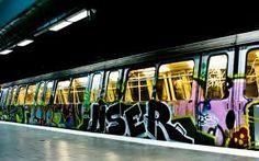 Bucharest subway desktop PC and Mac wallpaper Graffiti Writing, Graffiti Art, Graffiti Pictures, Street Installation, Urban Beauty, Graffiti Wallpaper, Urban Street Art, Train Art, Art Of Living