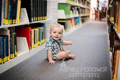 Let kids be kids and have fun at your local library for a photo shoot!