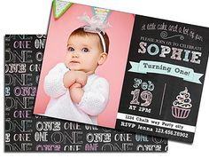 Card Template Birthday Card Bunting Banner Chalk Chalkboard Baby - Birthday invitation photoshop template