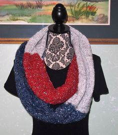 A personal favorite from my Etsy shop https://www.etsy.com/listing/479432747/red-white-blue-silver-sequin-infinity