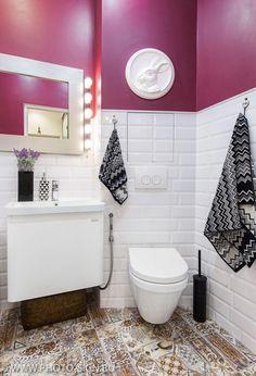 Metro tiles / subway tiles / плитка кабанчик / bathroom / ванная / санузел