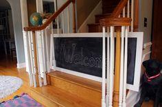 chalkboard baby gate
