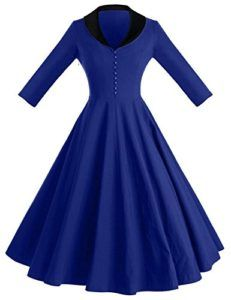 cfe777464257 GownTown Womens Dresses cape collar Sleeves Vintage Dresses Swing Stretchy  Dresses ** Details can be found by clicking on the image.