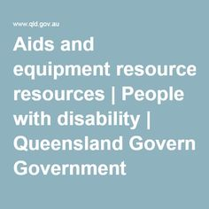 Facilitating communication with vision impaired (including aids and appliances) Aids and equipment resources Comment: Qld resource guide for a variety of sectors including vision impaired and other disabilities. It also includes service providers and education professionals