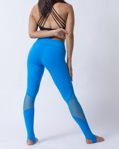 Pacific | Blue Leggings Canada | FitGal Activewear Pacific Blue, Blue Leggings, Slim Body, Seamless Leggings, Black Mesh, Workout Leggings, Strength Training, Activewear, Canada