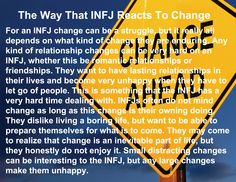 The Way That INFJ Reacts To Change