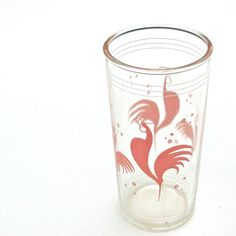 Rooster Pink Glass... umm yes!