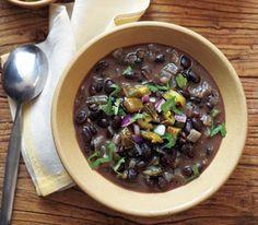 Black Bean Soup With Roasted Jalapeño Salsa