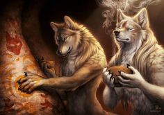 This image is for the upcoming werewolf calendar 2016 I was really excited to be able to do something with werewolves and Egyptian mythology. I always wondered what it would have been like if the E...