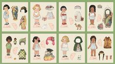 ethnic international paper dolls | In Grandmas Attic: International Paper Dolls