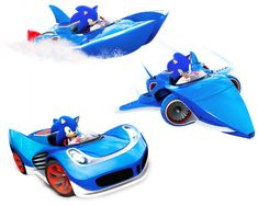 View an image titled 'Sonic Vehicle Transformations Art' in our Sonic & All-Stars Racing Transformed art gallery featuring official character designs, concept art, and promo pictures. Super Mario Birthday, Mario Birthday Party, Sonic Car, All Star, Sonic The Hedgehog, Eggman, Character Wallpaper, Zootopia, Playing Guitar