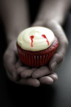 vampire bite cupcakes...