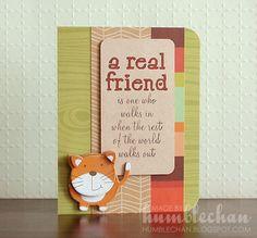 Humblechan: A Real Friend Cat Card