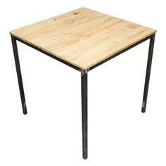 in ferro brunito e legno - Cerca con Google  tavolo in ferro e legno ...