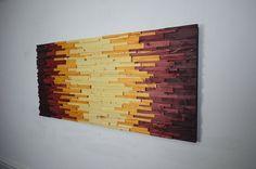 arte della parete in legno AZTECHIE arte di StainsAndGrains
