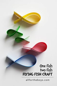 One Fish Two Fish Flying Fish Craft - Eighteen25