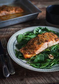 saumon en croûte d'épices