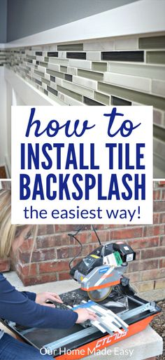 Here is a tutorial on how to install a tile backsplash even if you've never done it before! Use these easy tips to add beautiful tile work to your home.