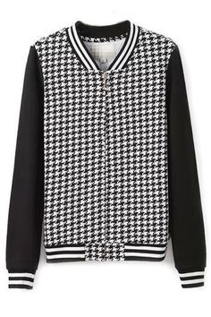 Vintage Houndstooth French Terry Jacket