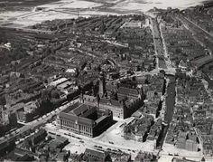 Luchtfoto van het centrum van rotterdam 1937