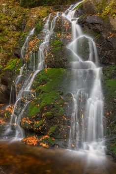 Autumn pic of Spruce Flats Falls in Great Smoky Mountains National Park, USA