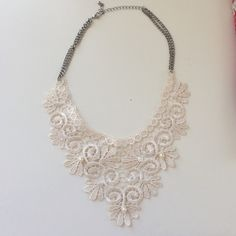 Lace necklace Brand new! Never worn! Beautiful lave necklace with pearl detail Jewelry Necklaces