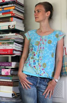 refashioned sorbetto blouse