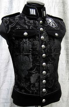 Royal Marine Vest by Shrine Clothing Goth Steampunk Mens Jackets