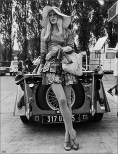 Brigitte Bardot, considered the most beautiful woman in the world in the 60's