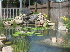 Pond and Waterfall Turner Landscaping, LLC St. Paris, OH