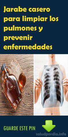 Jarabe casero para limpiar los pulmones y prevenir enfermedades. #Jarabe #casero #pulmones #salud