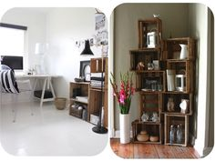 White Decor, My Room, My Dream Home, Home Projects, My House, Small Spaces, Bookcase, Recycling, Sweet Home