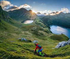 """#fbf to riding the Swiss Alps in #Ticino by the legendary @chrisburkard """"Some sports don't live in an arena and don't have paid seats. There are no vendors no long lines and nothing is televised. You could say that the glory is minimal but that's not why you do it in the end. . @kcdeane"""" #repost #mtbswitzerland"""