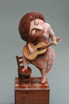 Clay figurine artists from Abramtsevo Ceramic Figures, Ceramic Art, Clay Figurine, Paperclay, Arte Popular, Art For Art Sake, Clay Art, Pottery Art, Unique Art