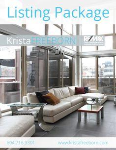 (aqua.turquoise) Listing Package cover design for REALTOR Krista Freeborn (www.kristafreeborn.com).