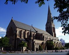 """The Anglican Cathedral of St Michael and St George Grahamstown Anglican Cathedral, Cathedral Church, Beautiful Buildings, Beautiful Places, Church Architecture, Church Building, Place Of Worship, St Michael, Travel Photos"