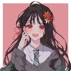 sticker by Discover all images by Find more awesome anime images on PicsArt. Pretty Anime Girl, Beautiful Anime Girl, Kawaii Anime Girl, Anime Art Girl, Manga Girl, Anime Girls, Art Et Illustration, Character Illustration, Desu Desu