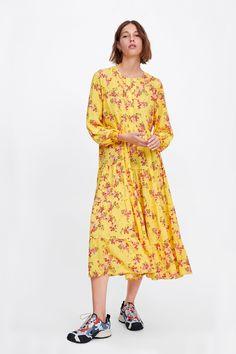 Sequin Midi Dress, Floral Print Maxi Dress, Long Sleeve Midi Dress, Vestidos Zara, Coachella Dress, Chiffon Shoulder, Bohemia Dress, Zara Dresses, Midi Dresses