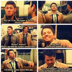 Supernatural-The French Mistake- My very favorite episode. Soooo funny.