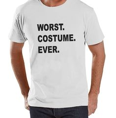 Custom Party Shop Men's Worst Costume Ever Halloween T-shirt