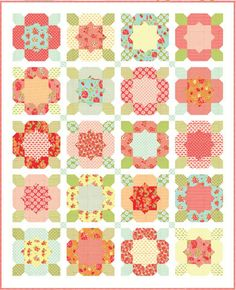 Flower Girl Quilt Kit designed by Camille Roskelly of Thimble Blossoms. $117.00, via Etsy.