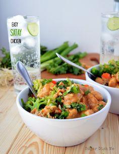 Easy Satay Chicken with Progresso Recipe Starters via www.sugardishme.com