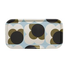 Add 70s inspired chic to the home with this Big Spot Shadow Flower tray from Orla Kiely. In ochre and pale blue, the front of this tray is adorned with a classic Orla Kiely floral print and reverse...
