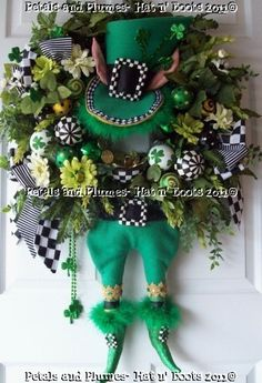 Made to OrderSt Patty LeprechaunSt Patricks Day by PetalsnPlumes, $429.00