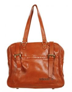 110968d239 Caramel Leather Flight Bag by Adidas - Vintage clothing from Rokit - Adidas  Vintage, Flight