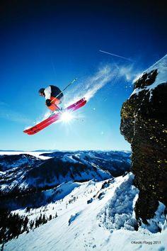 Warren Miller athlete Tim Dutton skiing in Squaw Valley, California