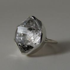 Herkimer Diamond Ring in Sterling Silver by anatomi