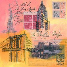 Big Apple Print by Martine Rupert Framing Canvas Art, New York Poster, Apple Prints, City Illustration, Poster Prints, Art Prints, City Art, Cool Posters, Source Of Inspiration